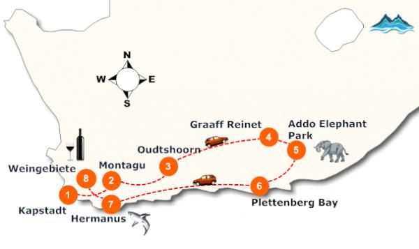 suedafrika-garden-route-landkarte