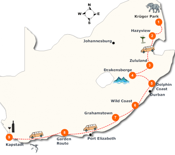 suedafrika-gefuehrte-lodge-safari-landkarte