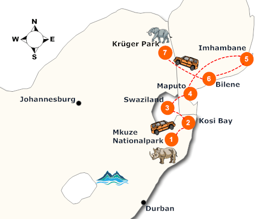 suedafrika-mosambik-lodge-safari-landkarte