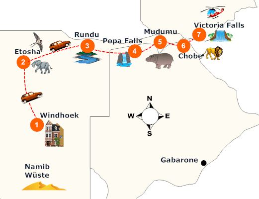 nambia-caprivi-rundreise-landkarte