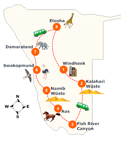 nambia-gefuehrte-entdeckugsreise-landkarte