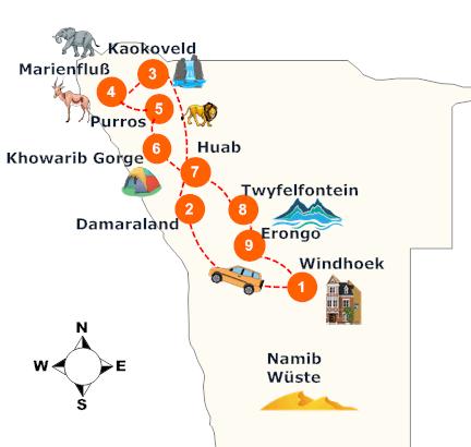 nambia-gefuehrte-selbstfahrer-kaokoveld-safari-landkarte