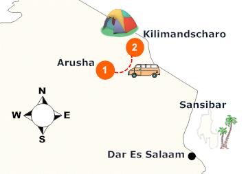 tanzania-kilimanjaro-besteigung-landkarte