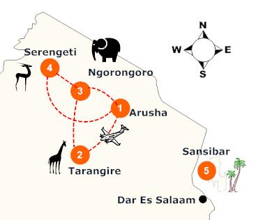 tanzania-luxus-flugsafari-landkarte