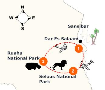 tanzania-suedliche-wildparks-landkarte
